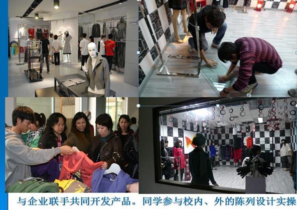 企业高级服装设计师黄谷穗指导学生的毕业设计制